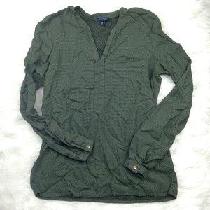 Tommy Hilfiger Longsleeve Sheer Green Shirt